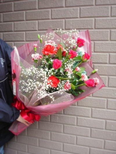 画像2: 赤系*おまかせ花束☆カンタン注文