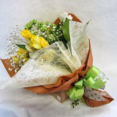 画像1: 黄オレンジ系*おまかせ花束☆カンタン注文